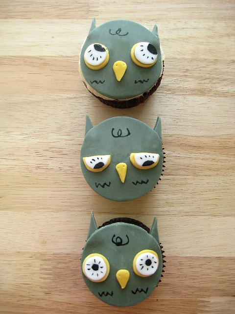 3 Owls by chubbybunnycupcakes on Flickr.