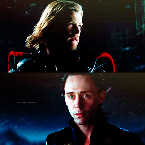 There are moments in Loki's life when he thinks he can't despise his brother any more than he does; like when he's being arrogant and stubborn and selfish—when he's being adored and praised by everybody else, including their father.   And then there are the moments, like this one, when Loki looks at Thor—at strength, ferocity and bravery all in one— and he remembers all too clearly how much he loves his brother more.