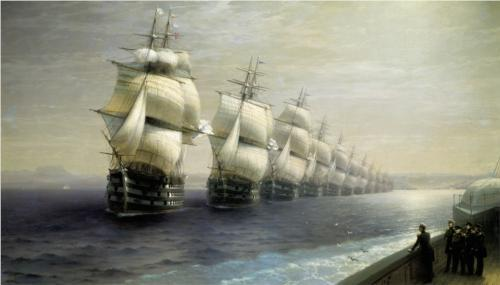 thepowerofart:  Ivan Aivazovsky, Parade of the Black Sea Fleet, date unknown.