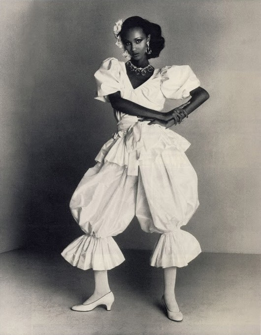 Yves Saint Laurent, Spring/Summer 1980  Photographer: Claus OhmModel: Iman