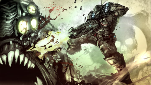 xombiedirge:  Geared For War by Dexter Soy / Website