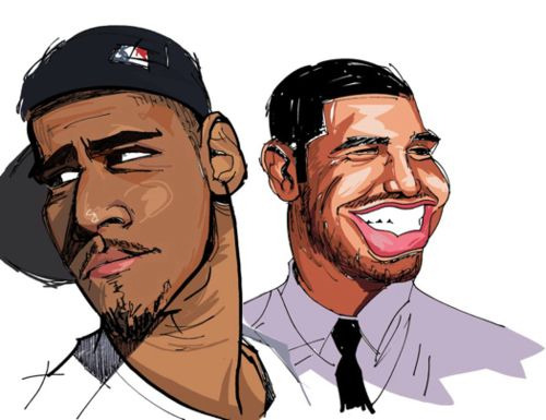 J.cole and Drake // Alternative art