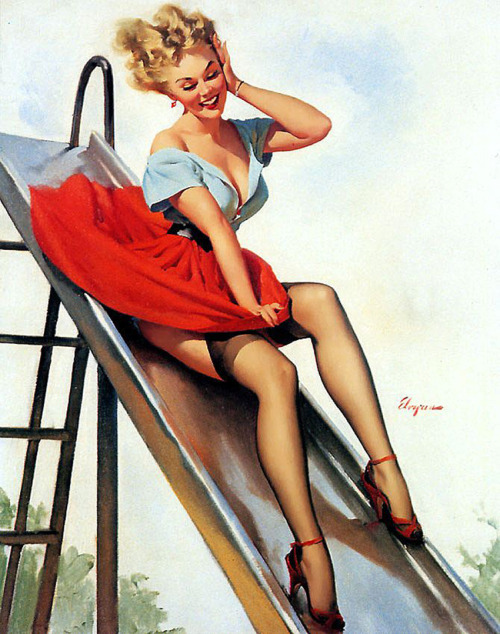 theniftyfifties:  Pin up art by Gil Elvgren, 1950s.