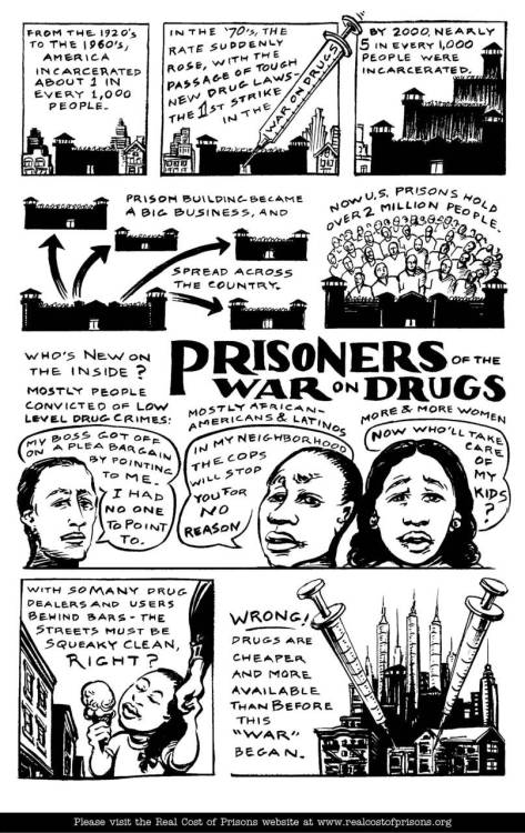 harmreduction:  Taken from the Prisoners of the War on Drugs comic book, published by the Real Cost of Prisons Project.