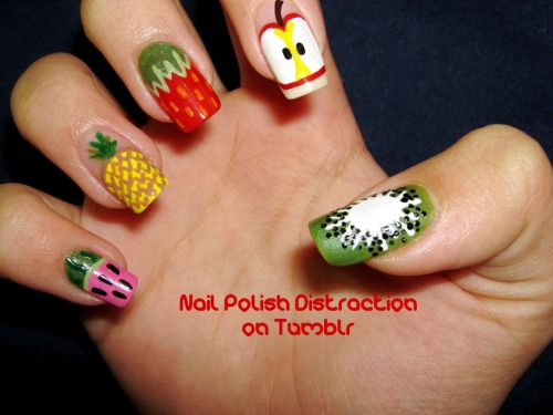 Fruit Salad =) I looove mixed manicures.