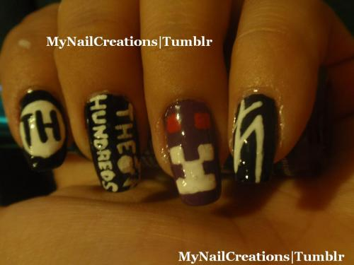 mynailcreations:  The Hundreds Manicure Click here to see close ups