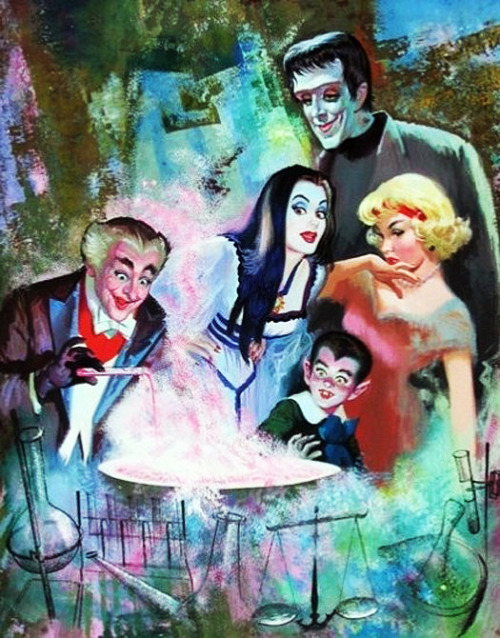 1965 illustration of The Munsters by Arnold Kohn
