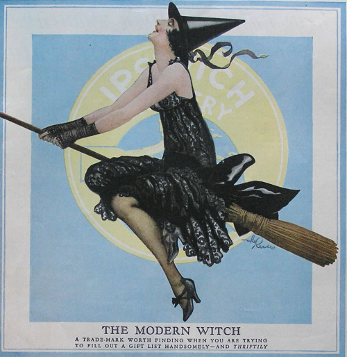 Halloween Ipswich hosiery advert for the modern witch -1926