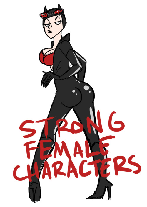 conleysdoodles:  Apparently this is Catwoman now. In reference to Kate Beaton, Carly Monardo, and Meredith Gran's STRONG FEMALE CHARACTERS.  the exact reason i got unexcited about this ongoing.