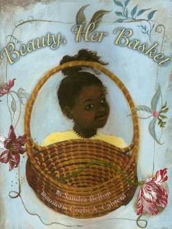 "Beauty, Her Basket (2004) by Sandra Belton, illustrated by Cozbi A. Cabrera. In this book, a young girl is spending the summer with her Nana and cousin out on the Sea Islands. No particular island is named, but for those uninitiated, the Sea Islands are a chain of 100+ islands off the coast of Georgia and South Carolina. The Gullah culture and language still survives there to this day. According to wikipedia: ""The Gullah are known for preserving more of their African linguistic and cultural heritage than any other African-American community in the United States"" and ""Gullah storytelling, cuisine, music, folk beliefs, crafts, farming and fishing traditions, all exhibit strong influences from West and Central African cultures."" Beauty, Her Basket is an story of cultural resistance to slavery and the importance of passing down and preserving Gullah culture over generations. Our young protagonist wants to learn how to weave sea grass baskets and know the story of Beauty, Her Basket. Her Nana tells her.  Nana's voice is quiet. ""The old blacks. The ones made to slave. Like the father before my father and the father before that. They bring the secrets of growing the rice with them from Africa and know Beauty, Her Basket will help."" … ""They bring the knowing of how to make nets for catching the fish. Like Uncle Richard make the nets on this side."" … ""The old blacks bring a lot of knowing with them. How to carve the wood and build the boat and make the pots for carrying the water from the sea."" …Nana touches the flower in my hair. ""Every morning I put a flower in my basket. Beauty from this side. Something to go with beauty from the other side. Beauty, Her Basket."" I look into Nana's face. I want to understand.  Her voice is soft. ""So much ugly in the slave times. Much too much ugly. But the basket like the flower— always a child of beauty. No matter what.""  I haven't come across Cozbi Cabrera before so I was in for a gorgeous surprise. Her illustrations are lyrical and sway with the ocean breeze of the story, creating a perfect counter-point to the beauty that grows and survives the harshest of times. In fact, there are five double page illustrations without any print at all so that we can stop and absorb all the richness of the artwork alone.  Beauty, Her Basket is a triumph. It is a prayer. Belton and Cabrera weave their words and art together like master basket-makers. We all can be thankful."