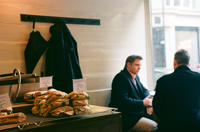 | ♕ |  Lunchtime at Fernandez & Wells, Paris  |  by Susan Zhang