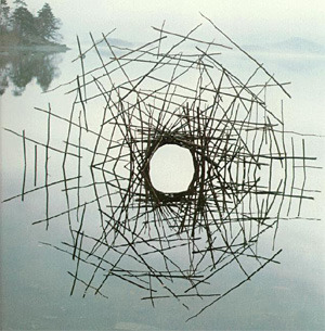Andy Goldsworthy, environmental artist.