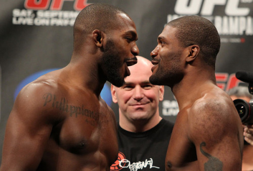 Jon Jones vs Rampage Jackson tonight at #UFC135!