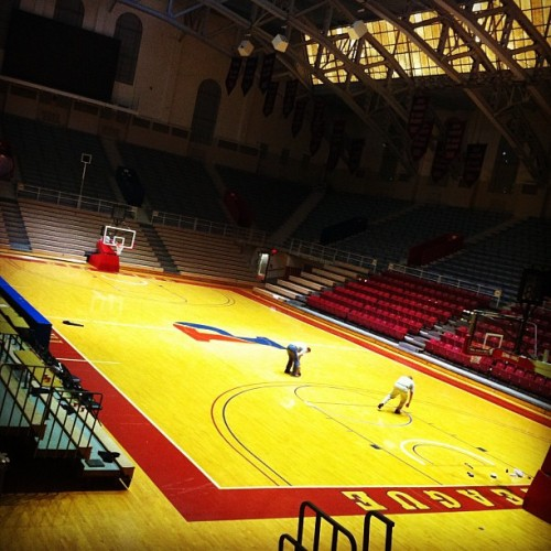 Battle of I-95, 24 hours to tip-off (Taken with Instagram at The Palestra)