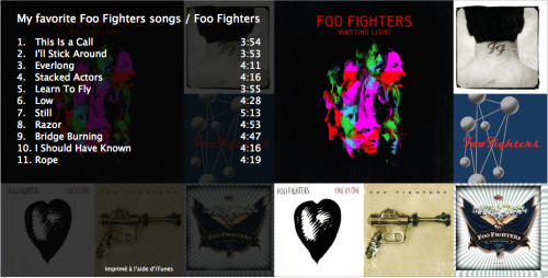My favorite Foo Fighters songs.