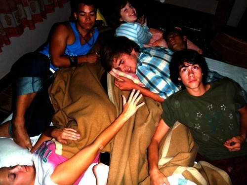 I miss the fun sleepovers, guys…