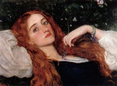 labellefilleart:  In the Grass, Arthur Hughes