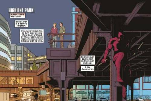 murketing:  (via Daredevil Comics Features New York City's High Line Park @PSFK)  I love the idea of tiny comic books geeks learning about architecture via their heroes. I think that's what happened to my husband.