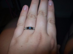 I am officially engaged to the love of my life <3 Abe proposed to me today, and OF COURSE I said YESSS! :D <3