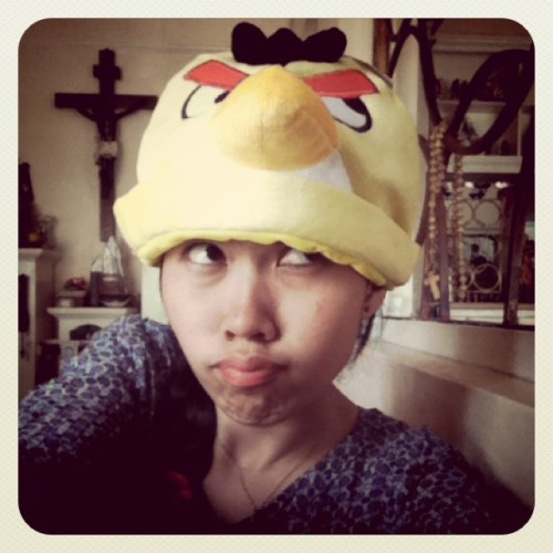 Angry bird yellow ranger :))) (Taken with instagram)