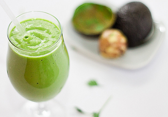 gastrogirl:  the creamiest green smoothie.