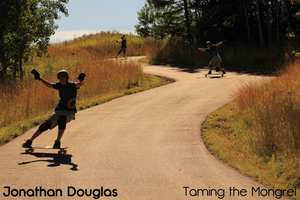 Jonathan Douglas is taming the Nelson Longboards Mongrel.
