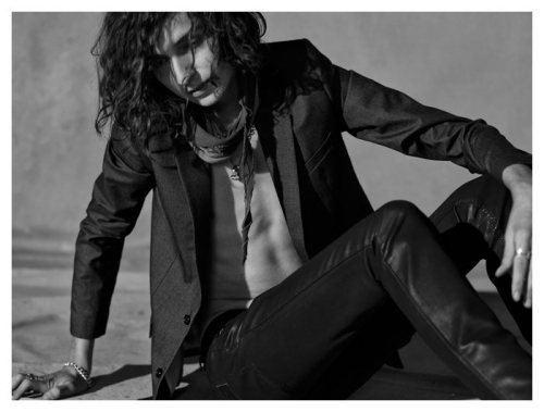 thefashionisto:  (via Aris Schwabe & Shane Gambill by Marylene Mey for April77 Fall 2011)