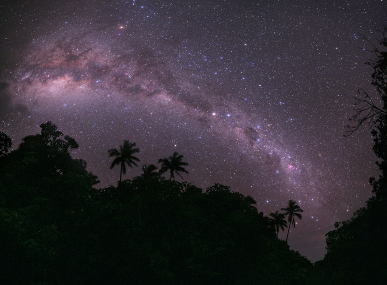 The Milky Way as seen from the South Pacific island of Mangaia.