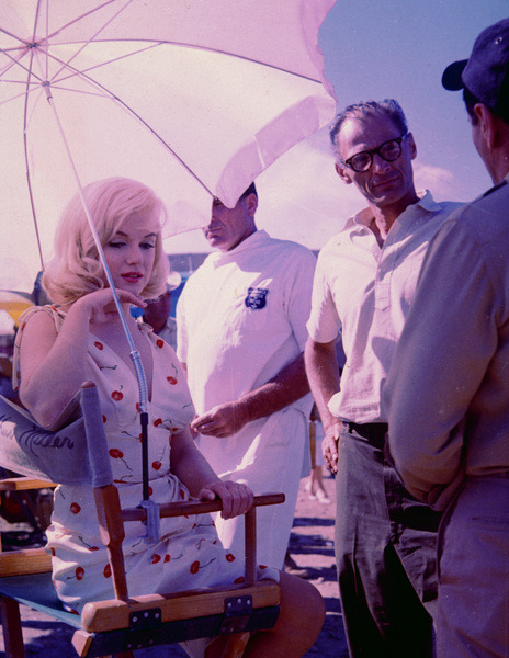 "Marilyn on the set of ""The Misfits"""