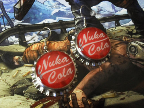 Nuka Cola earrings! Awesome….