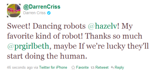 brianwilly:  cracktastic:  goobercriss:  what?  sure okay darren  No it makes perfect sense.  This makes perfect sense to me.  *shrug*