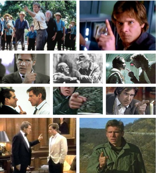 Harrison Ford's angry pointing finger