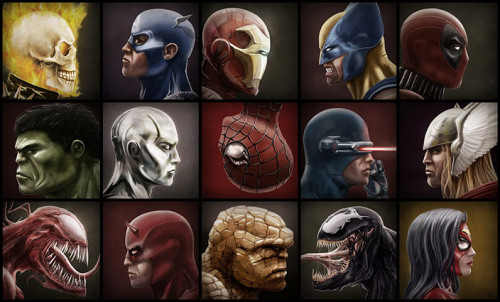 assorted-goodness:  Marvelous Fifteen by Andy Fairhurst. DeviantART // CGhub // Blog
