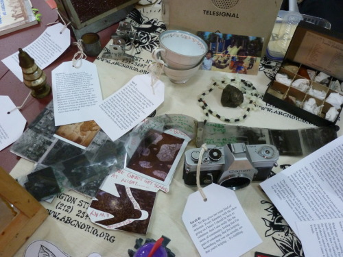 Another photo of ABC No Rio's artifact-filled MARKET display.