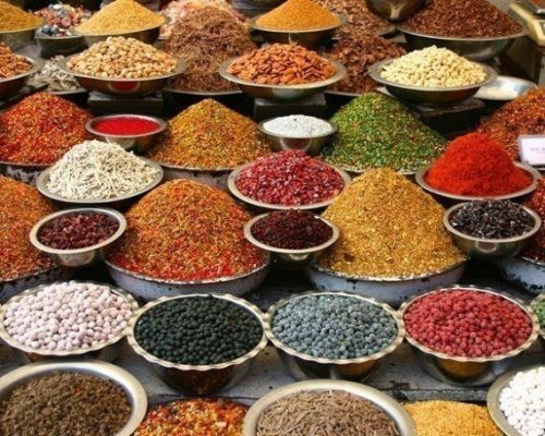 Colorful spices in Ahmedabad, India, (via Indian Spices 8x10 Fine Art Print by WilliamDohman on Etsy)