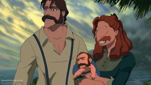 disneyfaceswap:  Tarzan takes after Nigel Thornberry, too.  omg I'm fucking dying at all of these I can't even