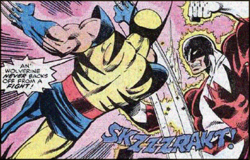 comicbookartwork:  An' Wolverine never backs off from a fight!