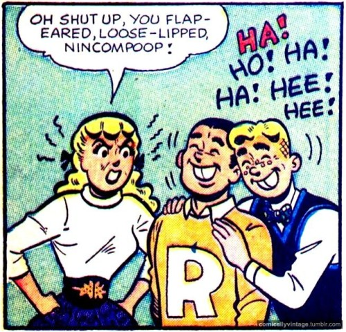 comicallyvintage:  Comically Vintage Insult Of The Day. Use it on your friends!