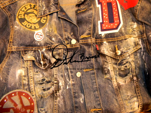 THE DNTN BRAND - Destressed Custom Denim Jackets  now sold @statusshop 252 South Street, Philadelphia Pa