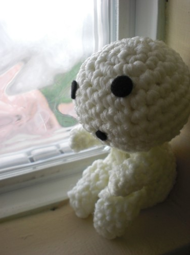 this my next project, i'll give this amigurumi for someone.. :) i get picture and pattern from here. But, i not use glow-in-the-dark yarn :(