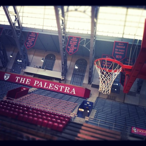 Countdown to tip: 7 hours #BattleI95 @SI_Video (Taken with Instagram at The Palestra)