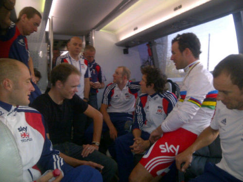 morganmuffle:  Remember this… (Dave Brailsford talking to the GB boys courtesy of @millarmind)