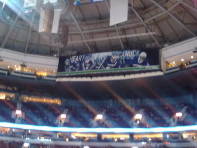 heart of a canuck. @VanCanucks shot from row six, club seats