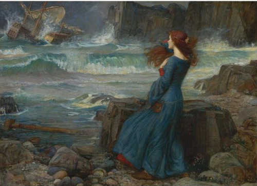 solo-vintage:  Waterhouse, John William (1849-1917) - 1916 Oil on canvas; 39 1/2 by 54 1/2 in.