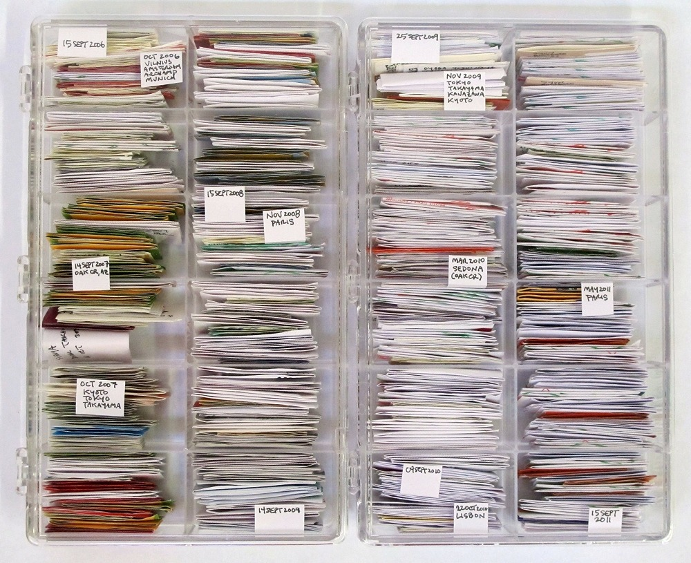 SUBMISSION: 5 year chopstick paper collection (15Sept2006 to 15Sept2011) . jamie newton ed: This is incredible.