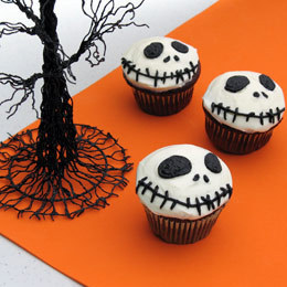 bakeddd:  jack skellington cupcakes click here for recipe
