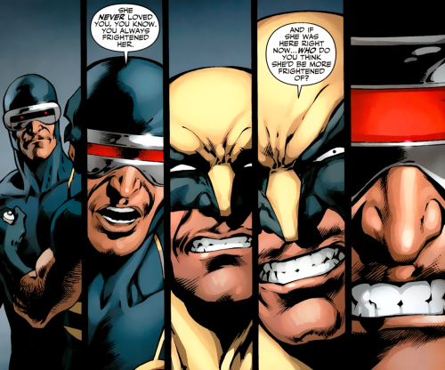 fycomicbookfriendships:  X-Men Schism #4 Jean! Jean! Jean!     No, Logan made her frightened of herself…