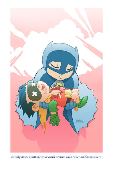thehappysorceress:  Adorable Tragedies: Batman by Tony Fleecs Print available here.