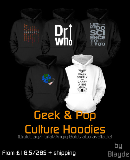the-rbc:  Warm yourself up for the coming winter with Hoodies now available at my store for these excellent prices! Tees of the same designs also available