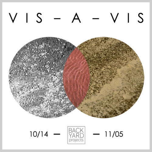 BACK YARD PROJECTS presentsVIS-A-VISOCTOBER 14 - NOVEMBER 5Opening Reception: FRIDAY OCTOBER 14, 6-9pm . August Barber.. Alessandro Bava… Jonathan Campolo…. Milano Chow….. Nathaniel De Large…… Amanda Beroza Friedman……. Isla Hansen…….. Elizabeth Jaeger……… Josie Ariel Keefe……… Sean Keenan…….. Scott Keightley……. Ann Kelly…… Clinton King….. Anne Kunsemiller…. Tim Lokiec… Joseph Marzolla.. Juan Antonio Olivares. Holly Stanton Organized by Holly Stanton, Sean Keenan, Josie Keefe, & Anne KunsemillerFlyer design by Jonathan CampoloWe are proud to present our final exhibition of the 2011 season, VIS-A-VIS. Our summer series included the site-specific installations BED, BATH & BEYOND (Nathaniel de Large, Scott Keightley, & Juan Antonio Olivares), NEW AGE///\NEW LIFE (Morgan Silver-Greenberg) and performances by Andrea Merkx, Sarah Elliott, and BFFA3AE. In an effort to give a physical presence to the channels of  communication opened through these experiences, each BYP collaborator  invited several artists to exhibit in the space. The result is  VIS-A-VIS, a conversation among eighteen artists touching on spatial  intervention, ambiance, community, and the uncanny.BACK YARD PROJECTS is a seasonal, collectively organized project space occupying a one bedroom apartment and garden in Alphabet City, NYC. We work with artists to develop site–specific projects, give new contexts to existing works, and engage with nature as a studio and platform for creation and collaboration. Hot Toddy & wine bar in the garden. RAIN OR SHINECONTACT: Holly Stanton, backyardprojectsny@gmail.com\\ BACK YARD PROJECTS is open by appointment only. ///** SAVE THE DATE **BYP & VIS-A-VIS Closing Halloween party - SATURDAY OCTOBER 29th
